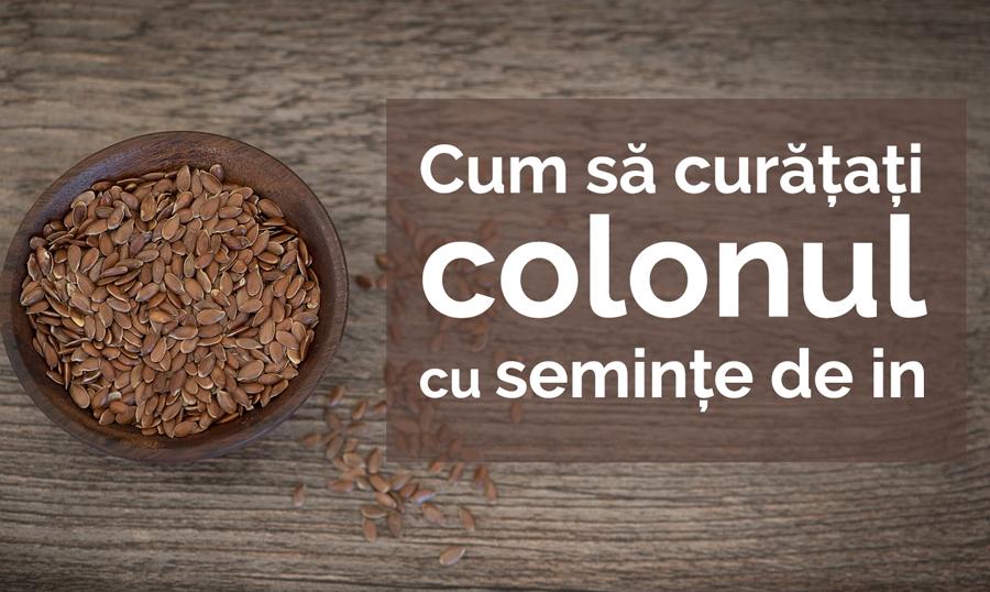 Cum să curățați colonul cu semințe de in
