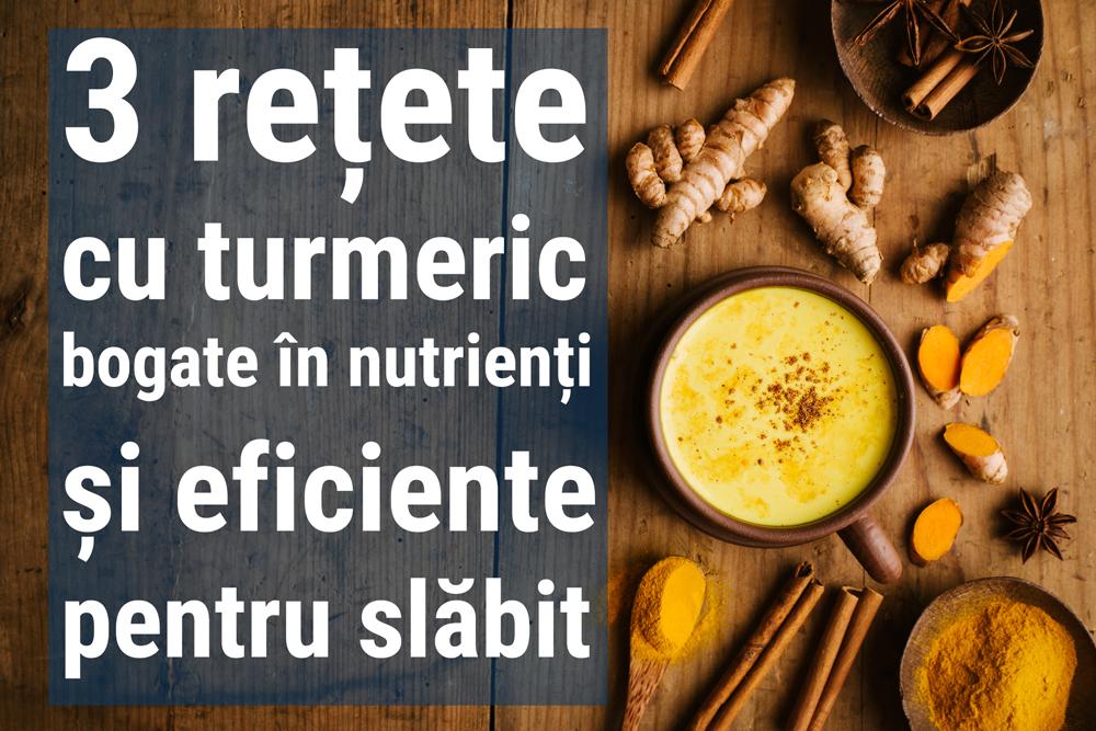 3 rețete cu turmeric bogate în nutrienți și eficiente în combaterea excesului de greutate