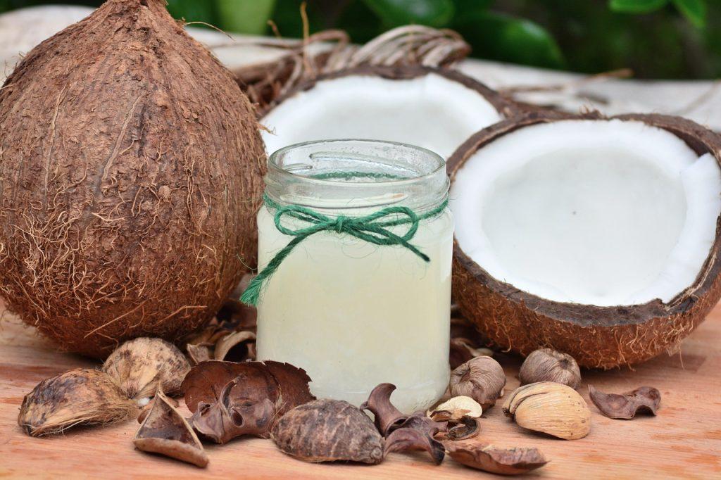 Ulei de nucă de cocos și geraniu pentru psoriazis